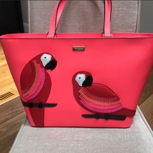 NWT Kate Spade Talk the Talk Parrot Tote Purse Bag